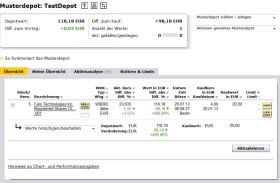 Musterdepot bei der .comdirect-Bank