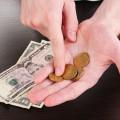 Geld zählen und sparen